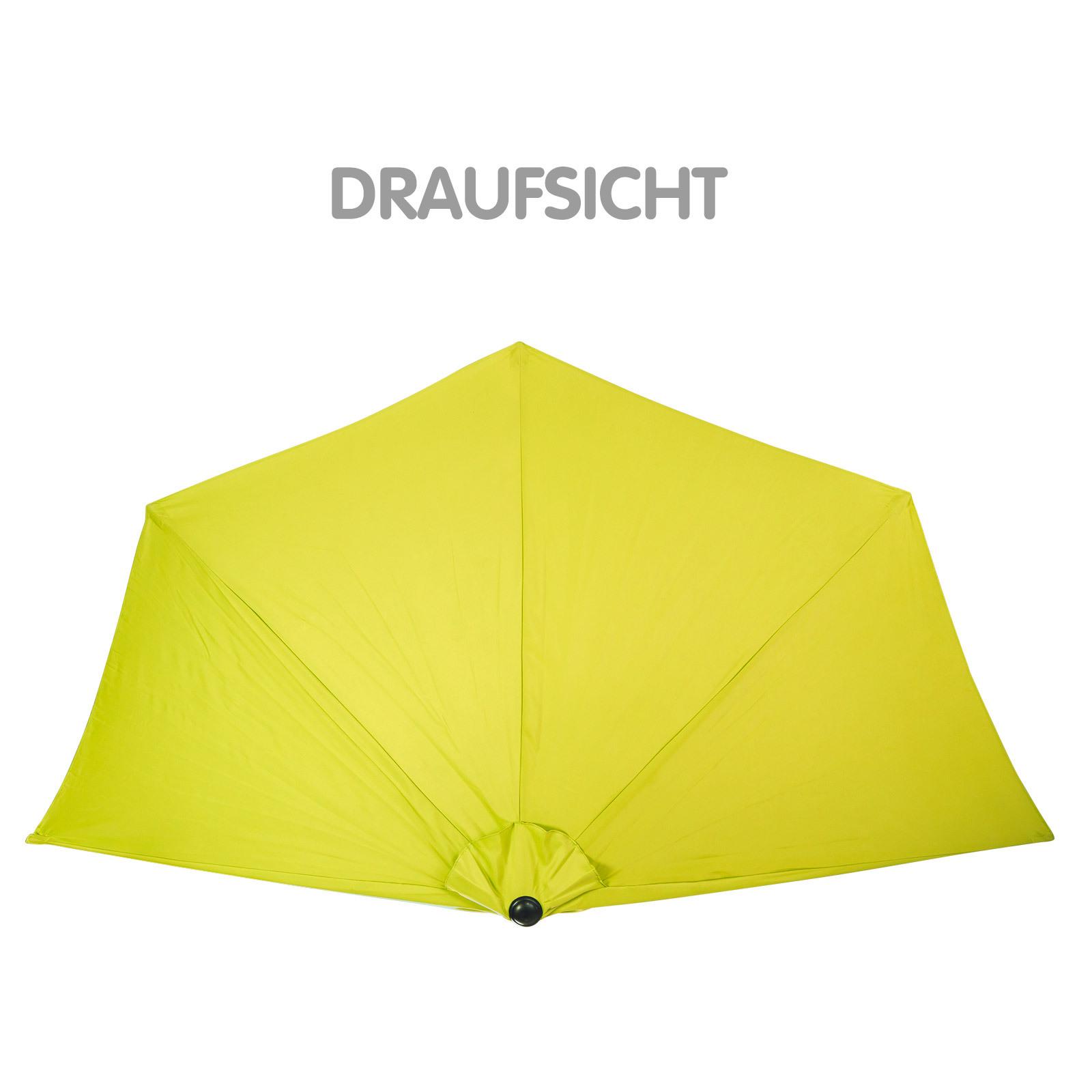 sonnenschirm gartenschirm sonnenschutz halbrund lemon gelb. Black Bedroom Furniture Sets. Home Design Ideas