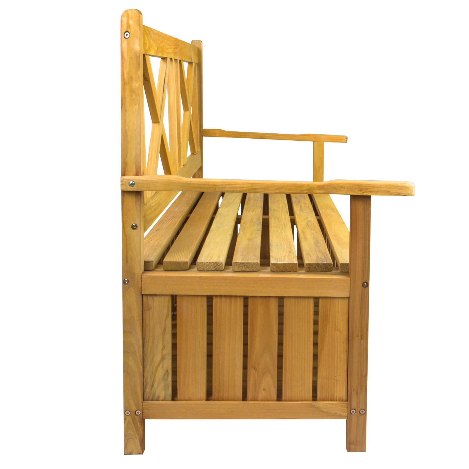 garten holz truhenbank bank gartenbank mit truhe stauraum kiefernholz 115x58x86 ebay. Black Bedroom Furniture Sets. Home Design Ideas