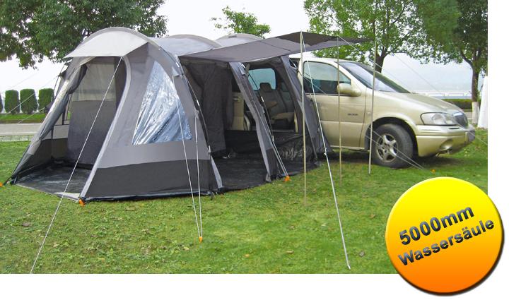 Zelt Für Vw T4 : Tunnelbuszelt zelt busvorzelt schlafkabine mm camping