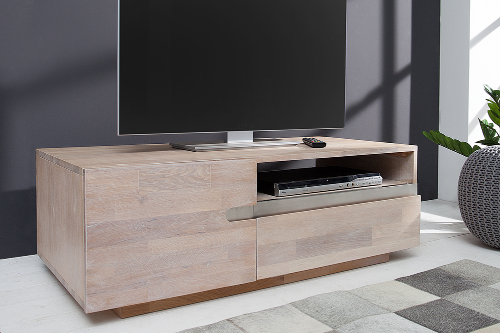 massiver couchtisch wotan eiche massivholz oberfl che wei gek lkt beistelltisch ebay. Black Bedroom Furniture Sets. Home Design Ideas