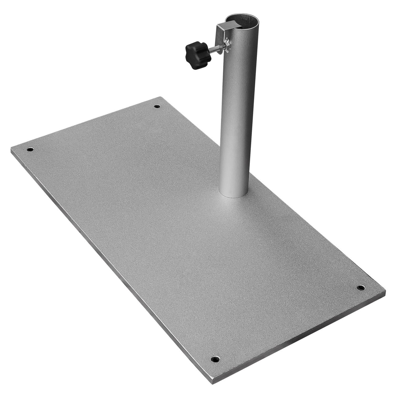 sonnenschirmst nder 23 kg schirmst nder balkon stahl silber stamm bis 40 mm 4011560082166 ebay. Black Bedroom Furniture Sets. Home Design Ideas