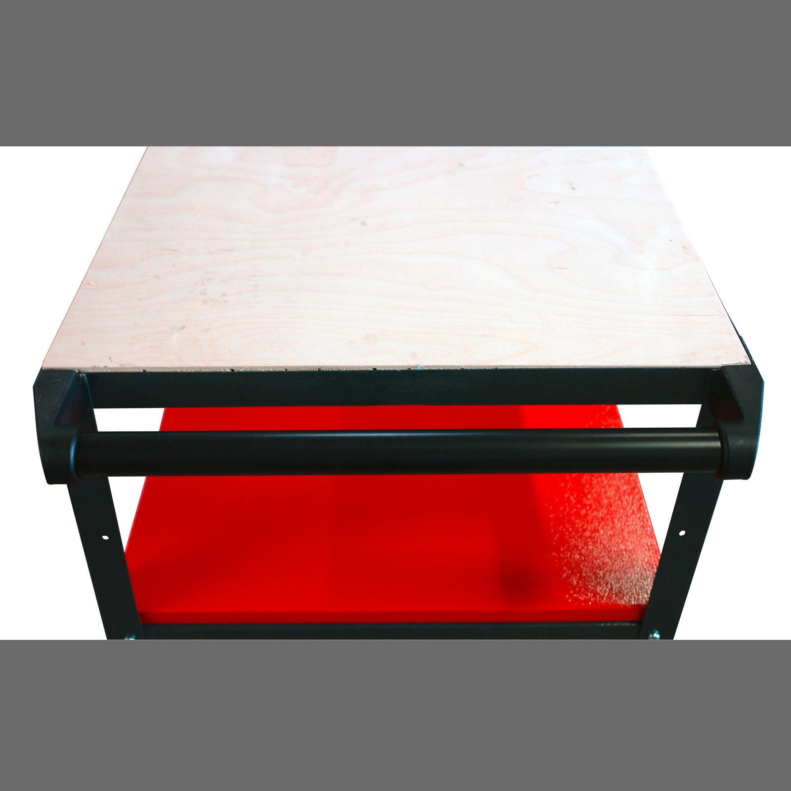 werkbank werktisch arbeitstisch werkstattwagen mit rollen. Black Bedroom Furniture Sets. Home Design Ideas