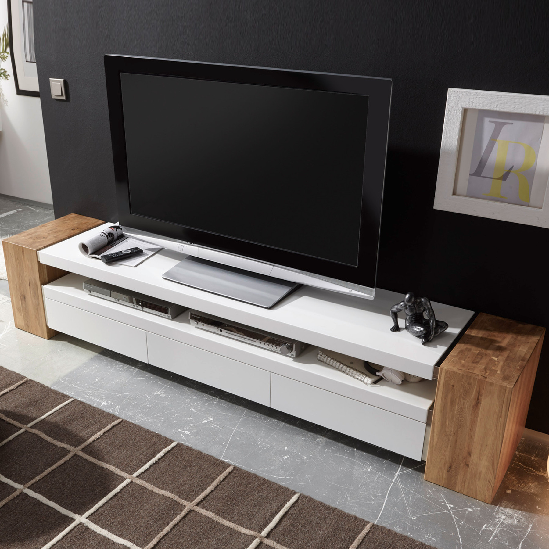 tv lowboard jule ii 200cm original mca board sideboard schrank fernsehtisch ebay. Black Bedroom Furniture Sets. Home Design Ideas