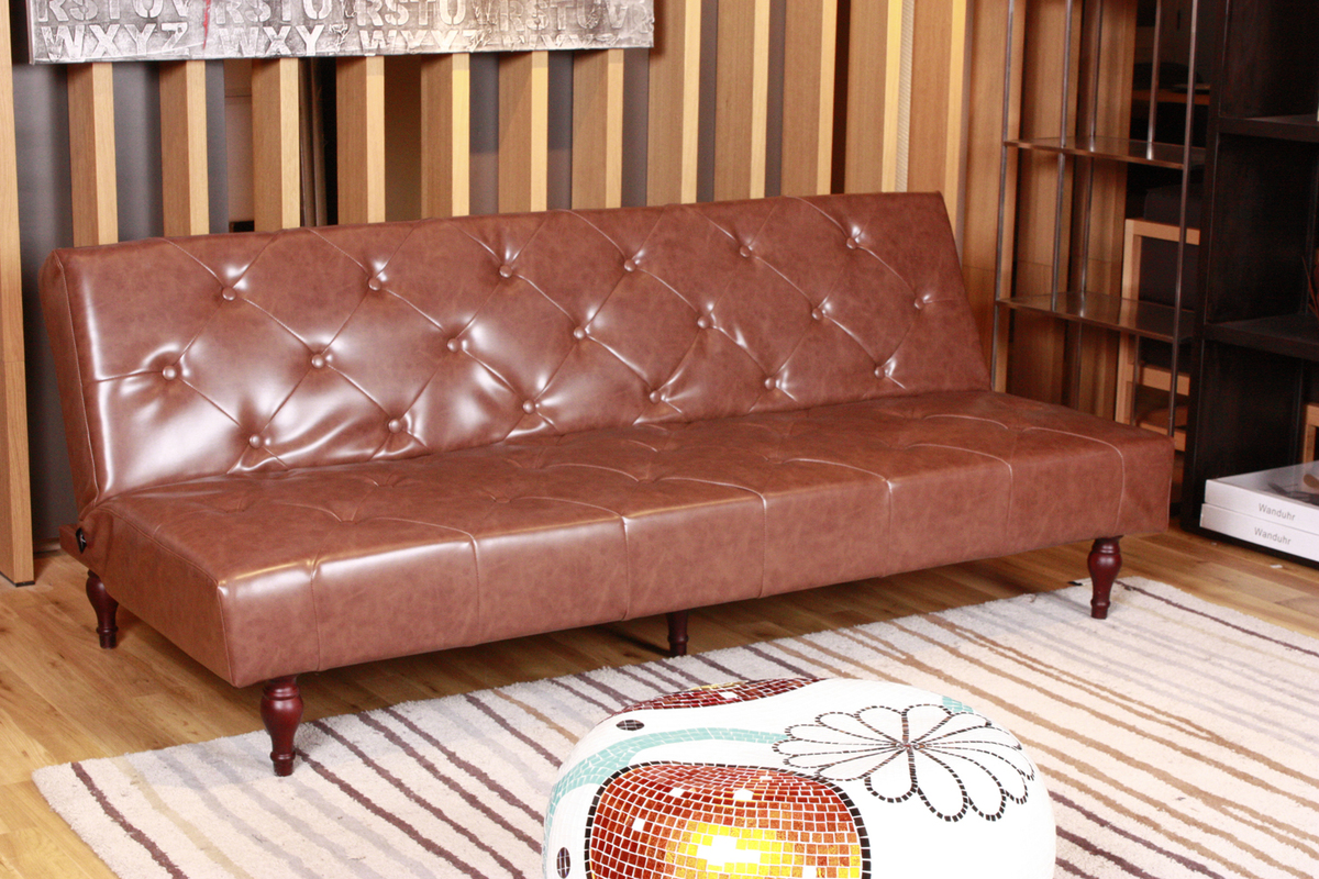 kawola sofa schlafsofa vintage kunstleder braun ebay. Black Bedroom Furniture Sets. Home Design Ideas