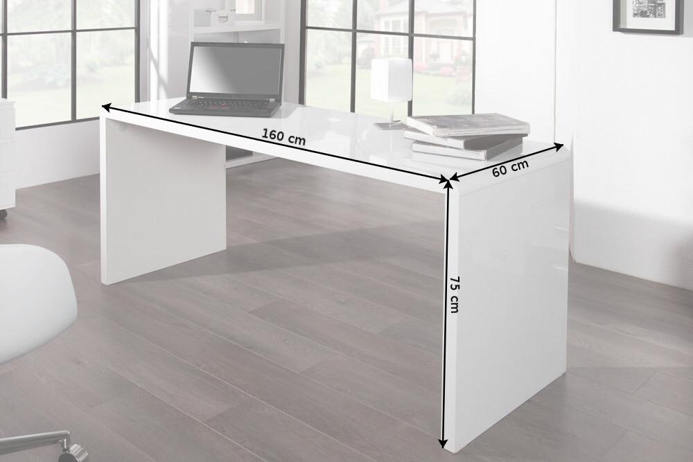 design schreibtisch fast trade 160cm wei hochglanz computertisch b rotisch ebay