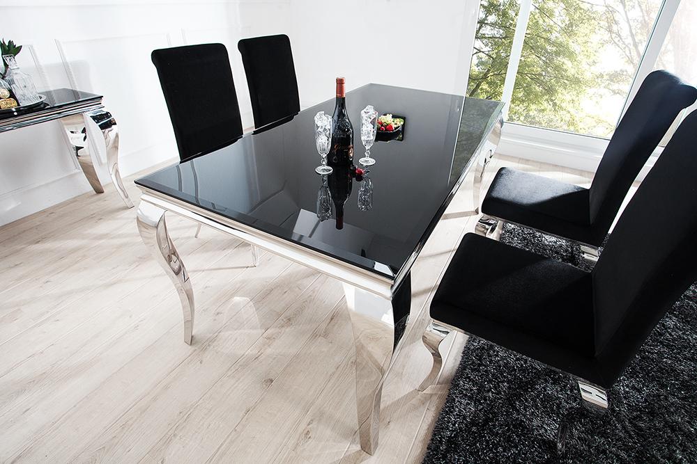 Esstisch Modern Barock 200 Cm Tisch Opalglas Esszimmertisch