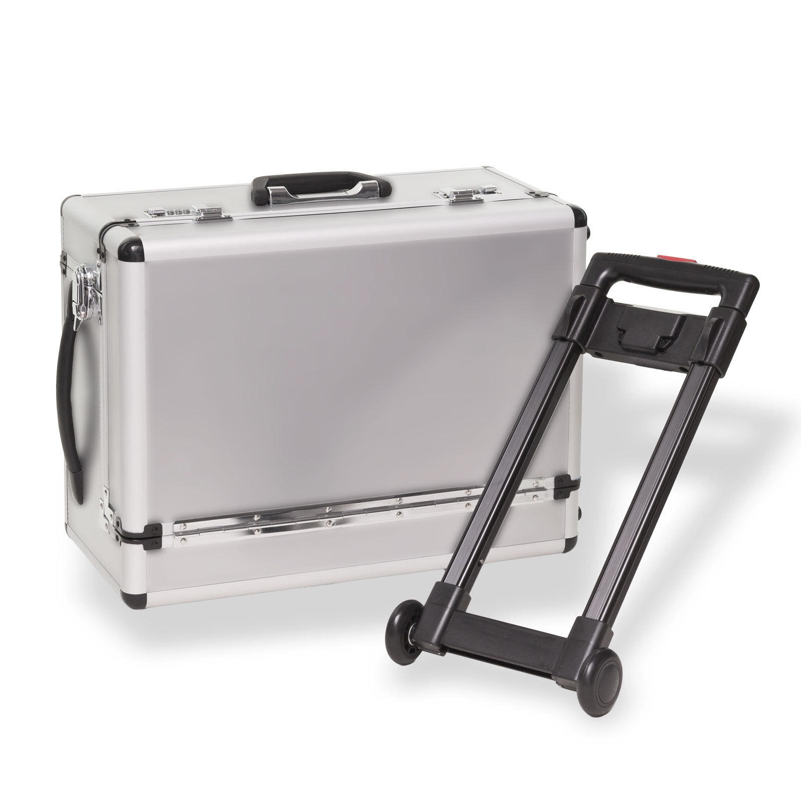 alu koffer trolley alutrolley handgep ck pilotenkoffer silber 49 5x25x37 cm ebay. Black Bedroom Furniture Sets. Home Design Ideas