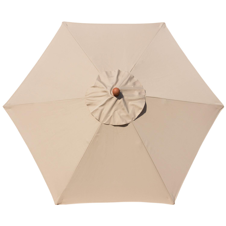 anndora sonnenschirm 2 m rund dark natural beige balkonschirm gartenschirm ebay. Black Bedroom Furniture Sets. Home Design Ideas