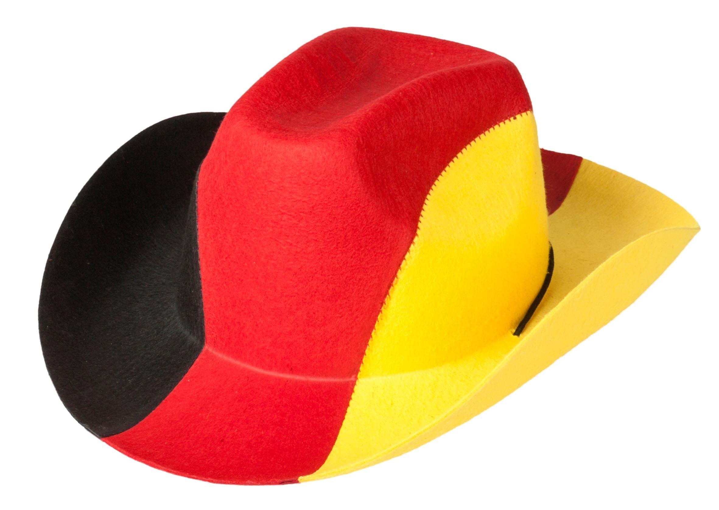 Fan Hut mit Bommeln Deutschland Flagge Fußball WM 2018 Mütze Fanmeile Karneval