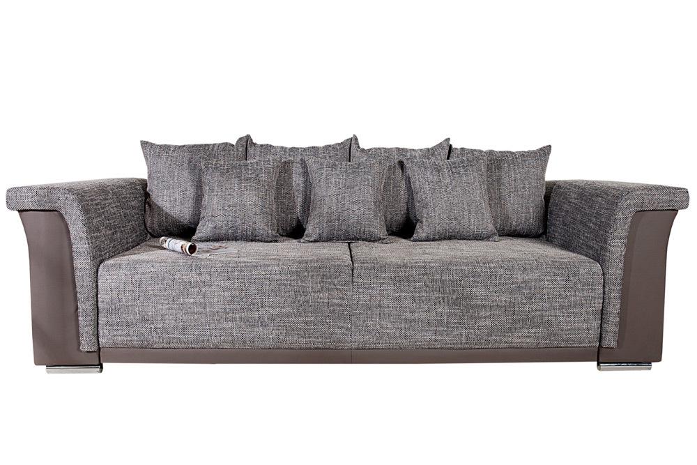 big xl sofa bellina strukturstoff schlaffunktion federkern couch wohnlandschaft ebay. Black Bedroom Furniture Sets. Home Design Ideas