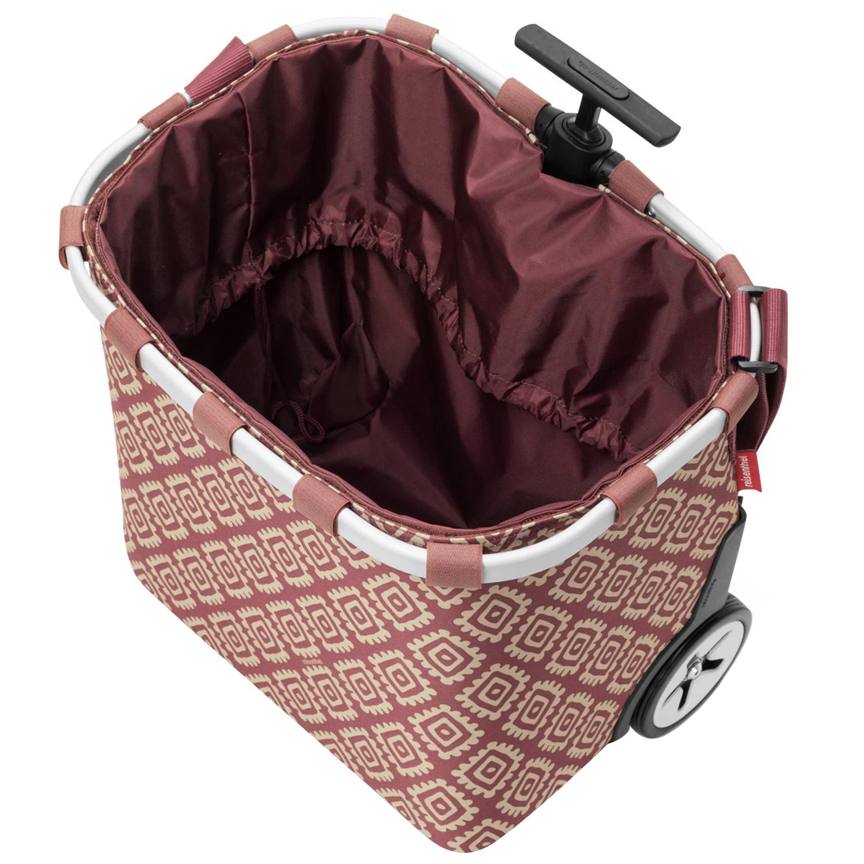 Reisenthel Carrycruiser Diamonds Rouge Cruiser 40 L Trolley Shopper Einkaufskorb Klein- & Hängeaufbewahrung Einkaufsroller