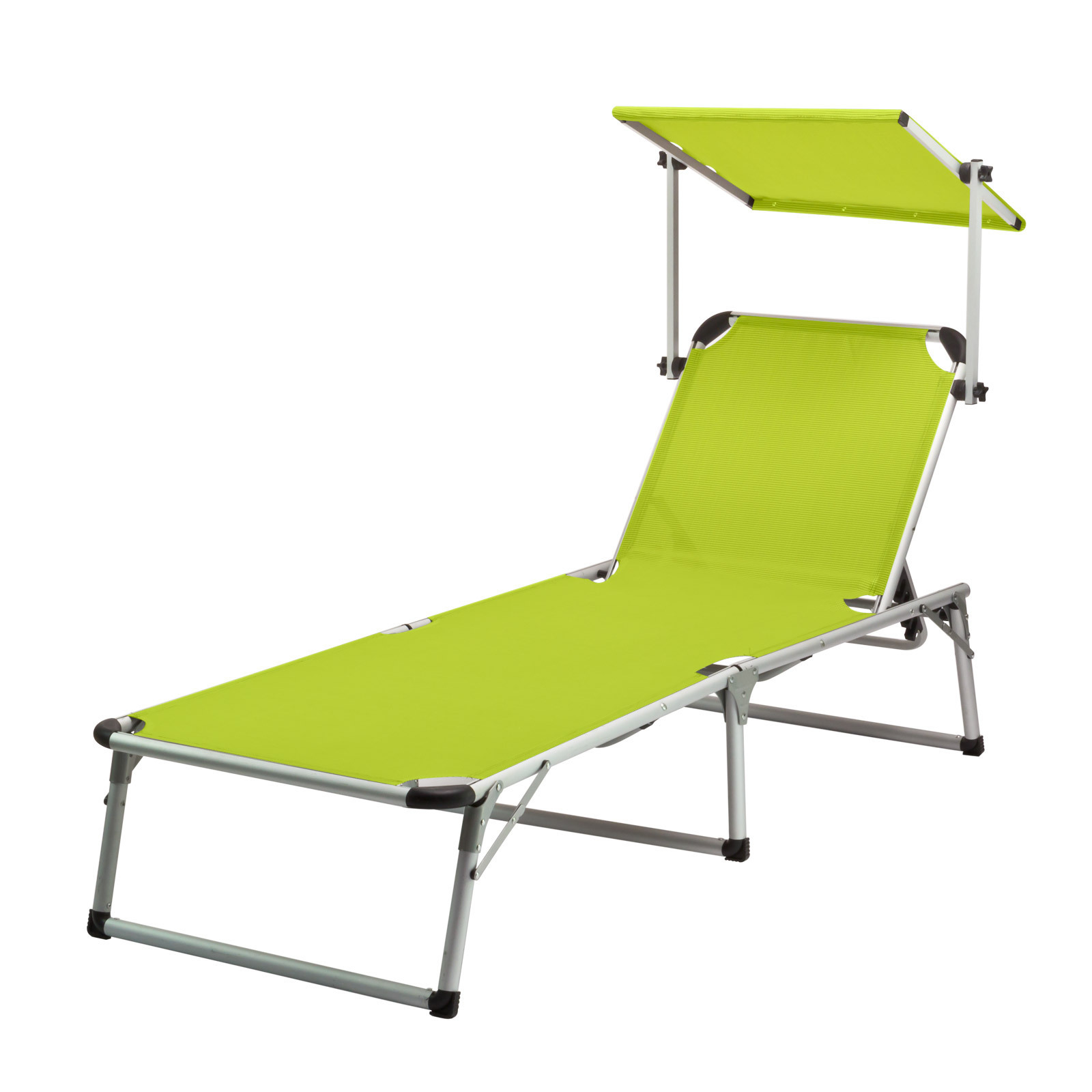 alu gartenliege sonnenliege strandliege liegestuhl liege mit sonnendach limette 4031765940719 ebay. Black Bedroom Furniture Sets. Home Design Ideas