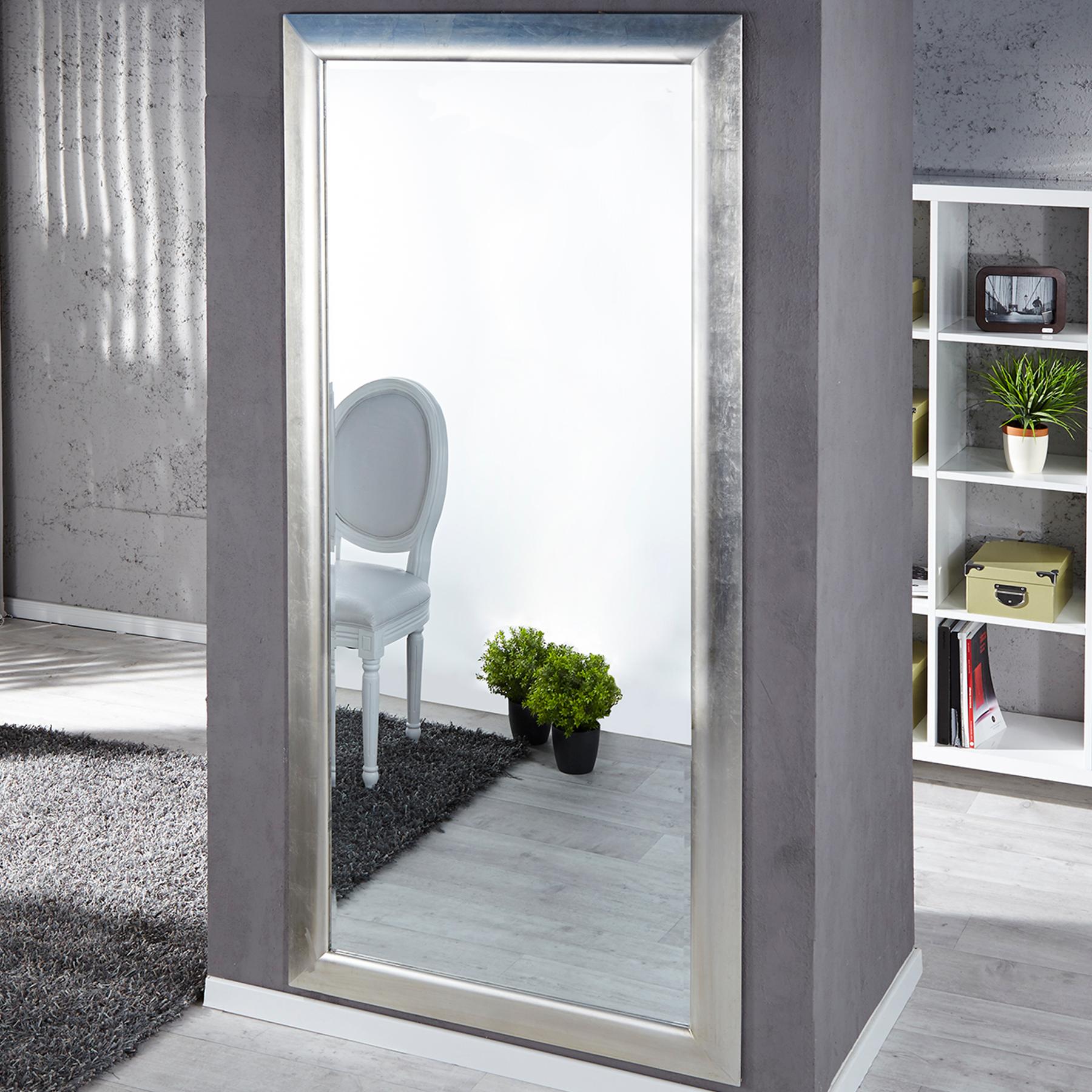 Gro er moderner design spiegel espejo silber 180x85 cm - Spiegel zum hinstellen ...