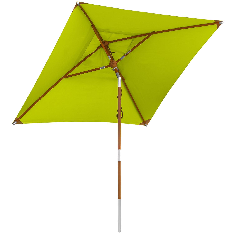 Sonnenschutz anndora Holz Sonnenschirm knickbar 2x2m eckig Balkonschirm UV