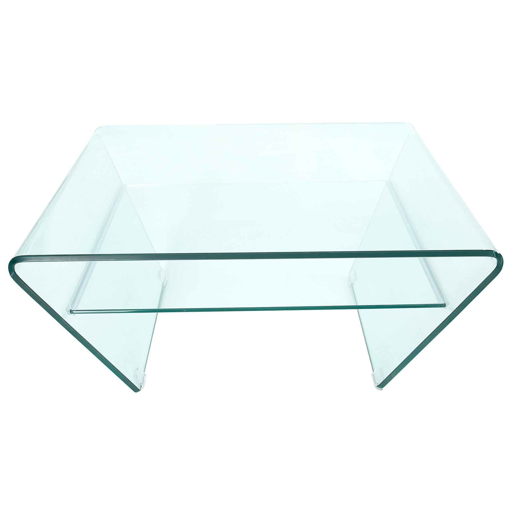 trapez couchtisch ghost 80cm glastisch transparent beistelltisch wohnzimmertisch ebay. Black Bedroom Furniture Sets. Home Design Ideas
