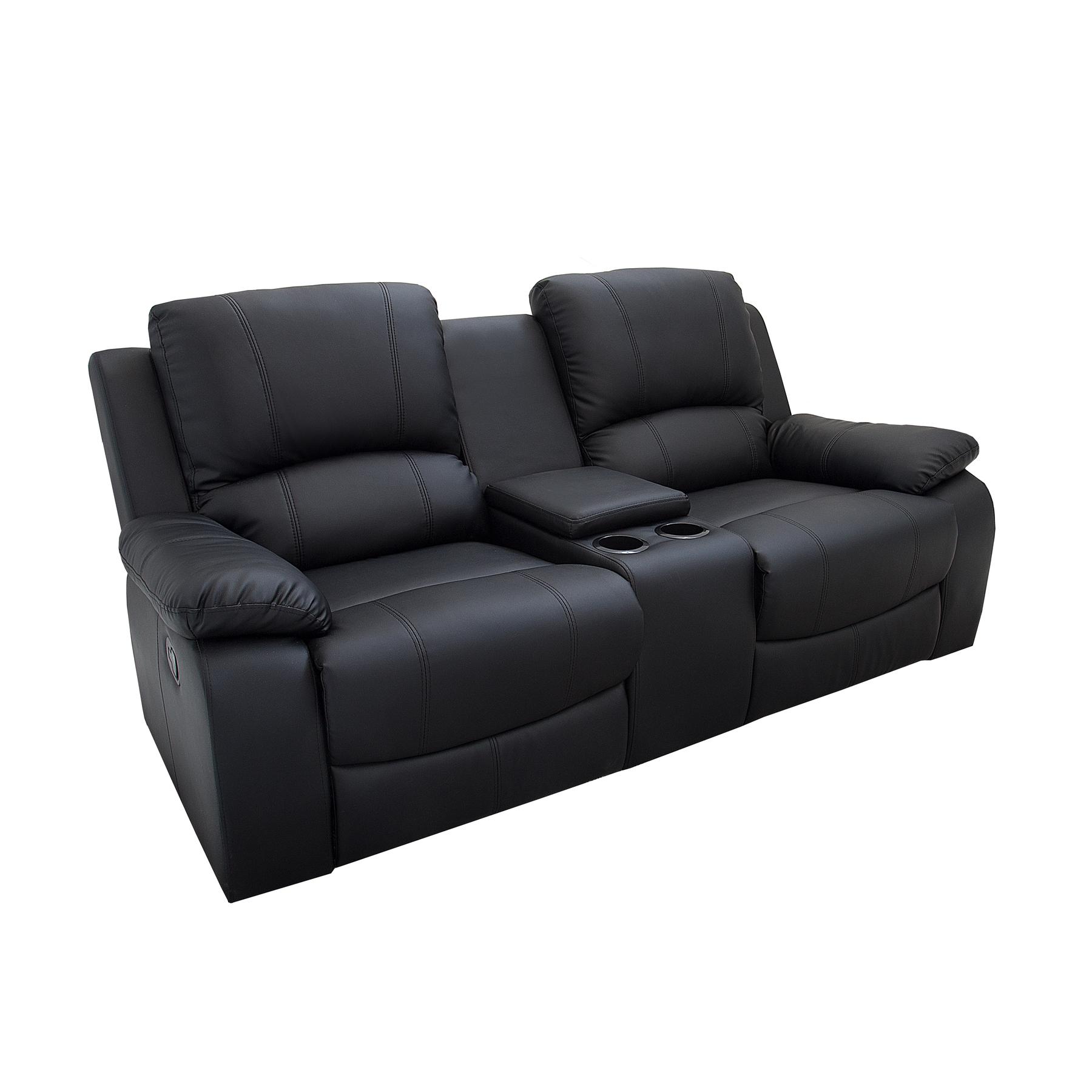 2er Kinosessel HALL OF FAME schwarz mit Cupholder Sessel