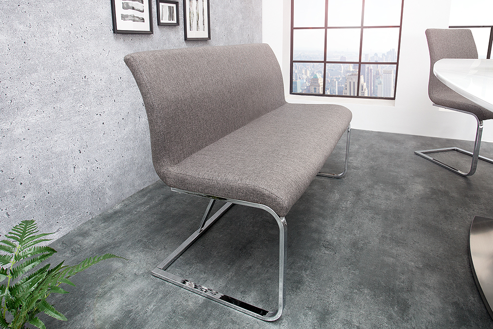 Design sitzbank hampton farbwahl 130 cm mit rückenlehne