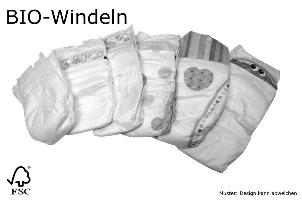 Packung mit 3 Beaming Baby-biologisch abbaubare Mini Windeln Gr/ö/ße 1 60 Windeln