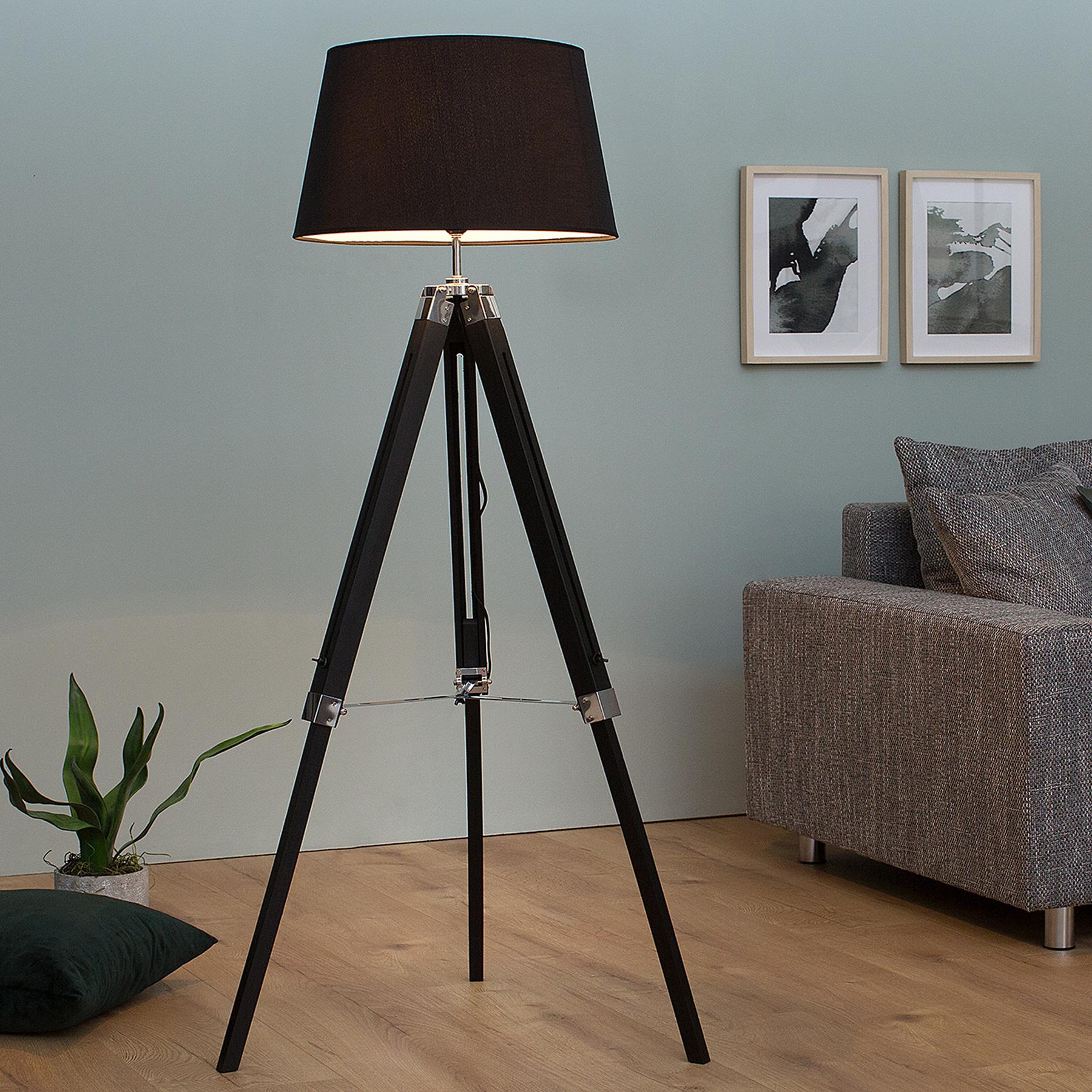 Elegante Design Stehlampe SYLT höhenverstellbar braun