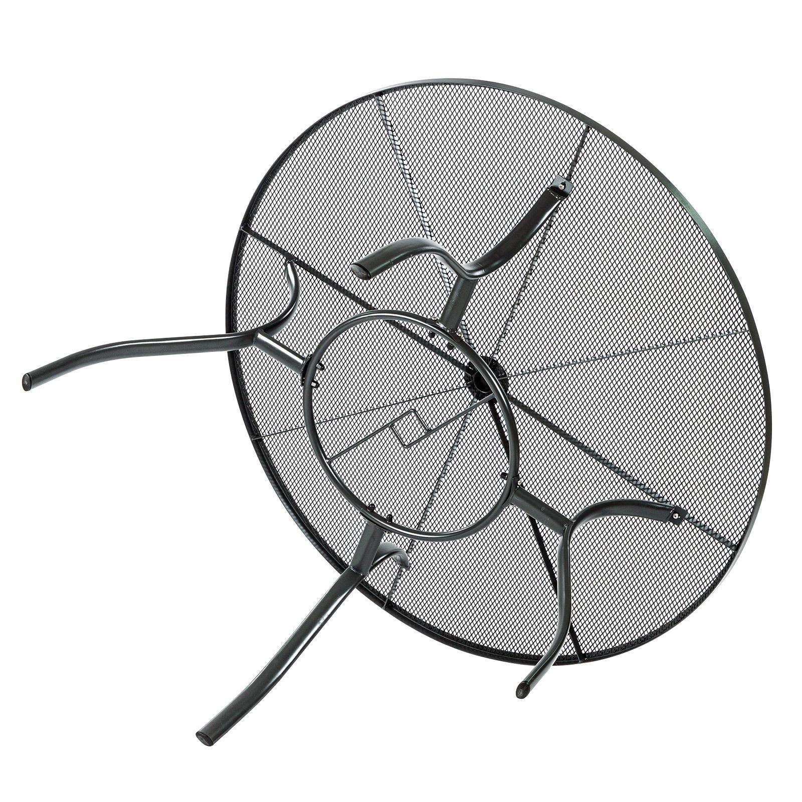 Streckmetalltisch metalltisch gartentisch tisch rund las for Metalltisch rund