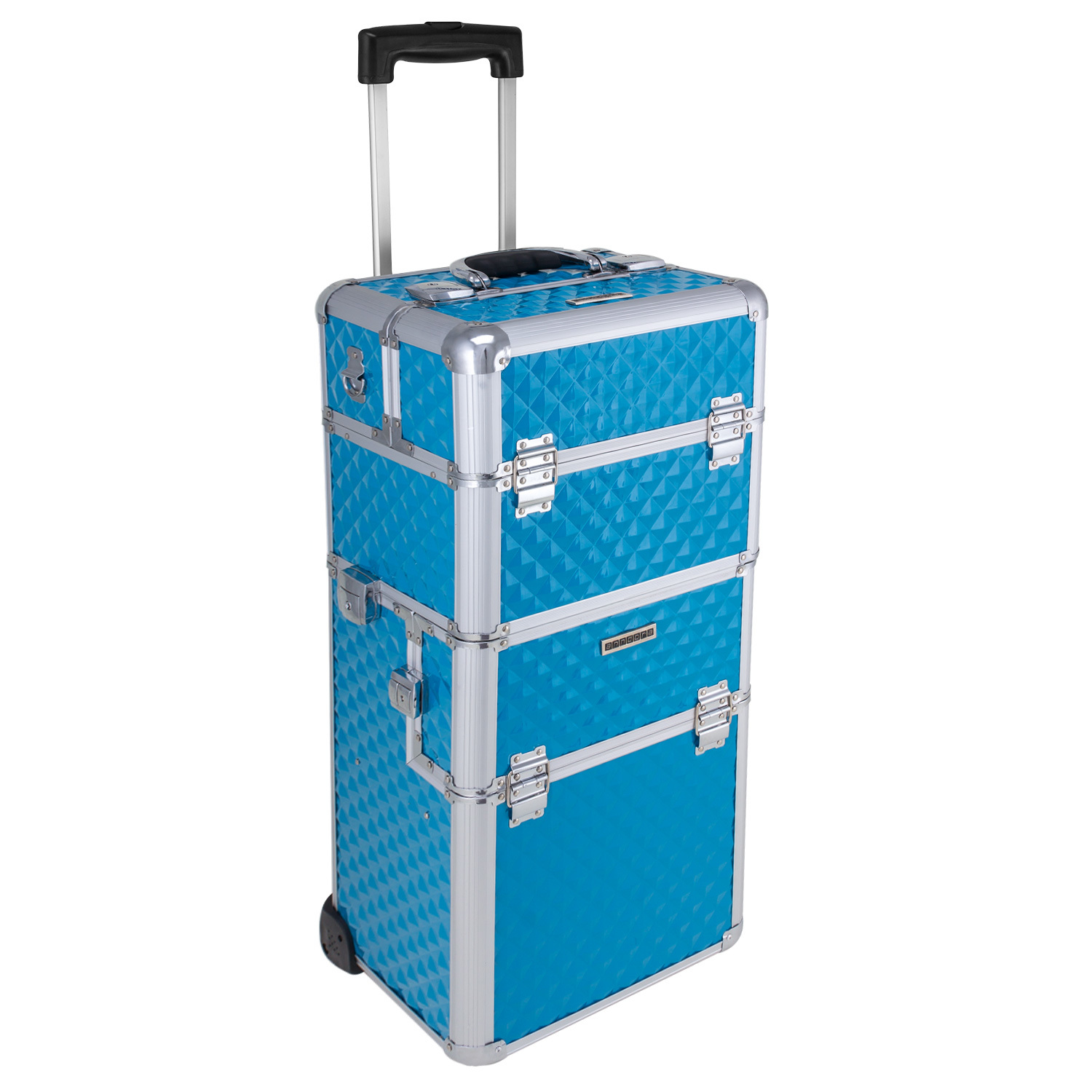 Make-up Koffer Trolley 2 Räder Werkzeugtrolley Friseurkoffer Make-up Make-up Taschen & Koffer Tool Beauty Case