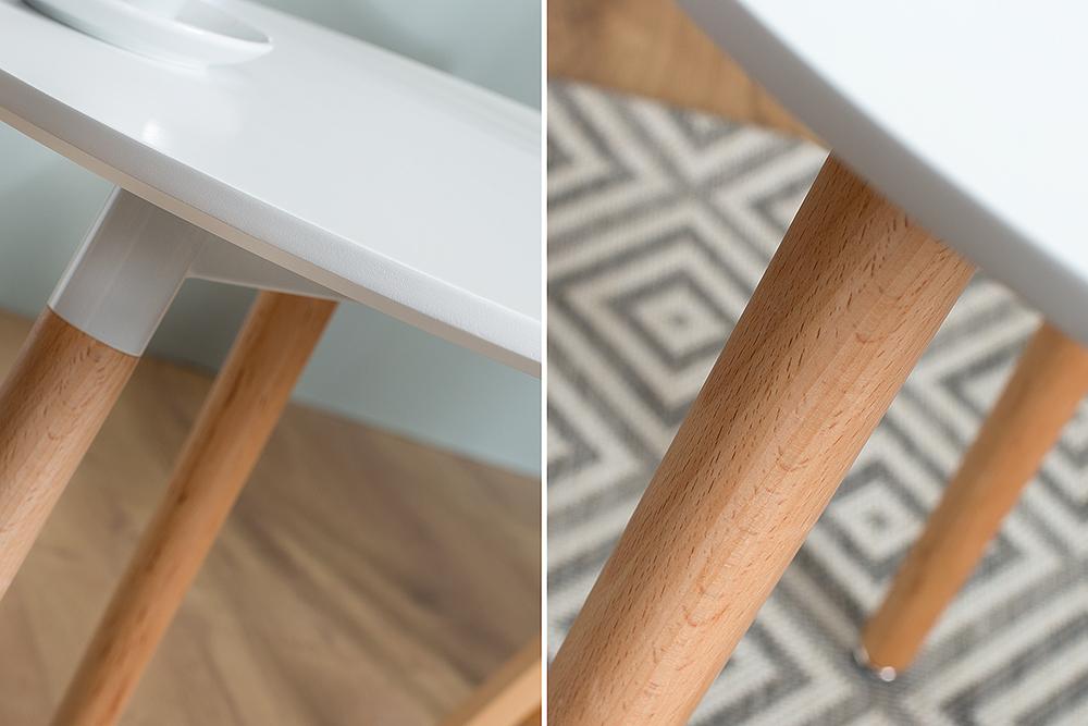 Design retro bistrotisch scandinavia 60cm rund for Design bistrotisch