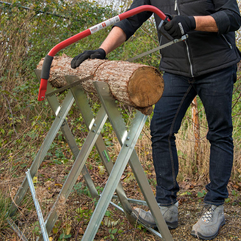 Neu Sägebock Metallsägebock Holz-Schneidebock Metall Holzhalter Bis 150KG DHL