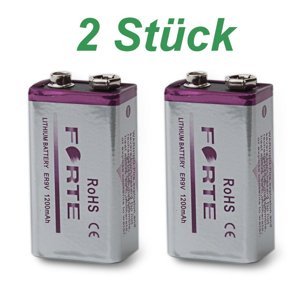 9v lithium blockbatterie rauchmelder 1200mah feuermelder e block er9v forte batt ebay. Black Bedroom Furniture Sets. Home Design Ideas