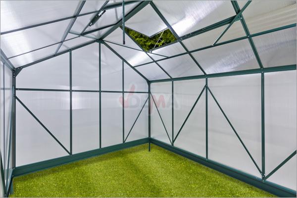 alu gew chshaus fr hbeet gartenhaus treibhaus den haag 7 m mit 4 dachfenster 4031765470179 ebay. Black Bedroom Furniture Sets. Home Design Ideas