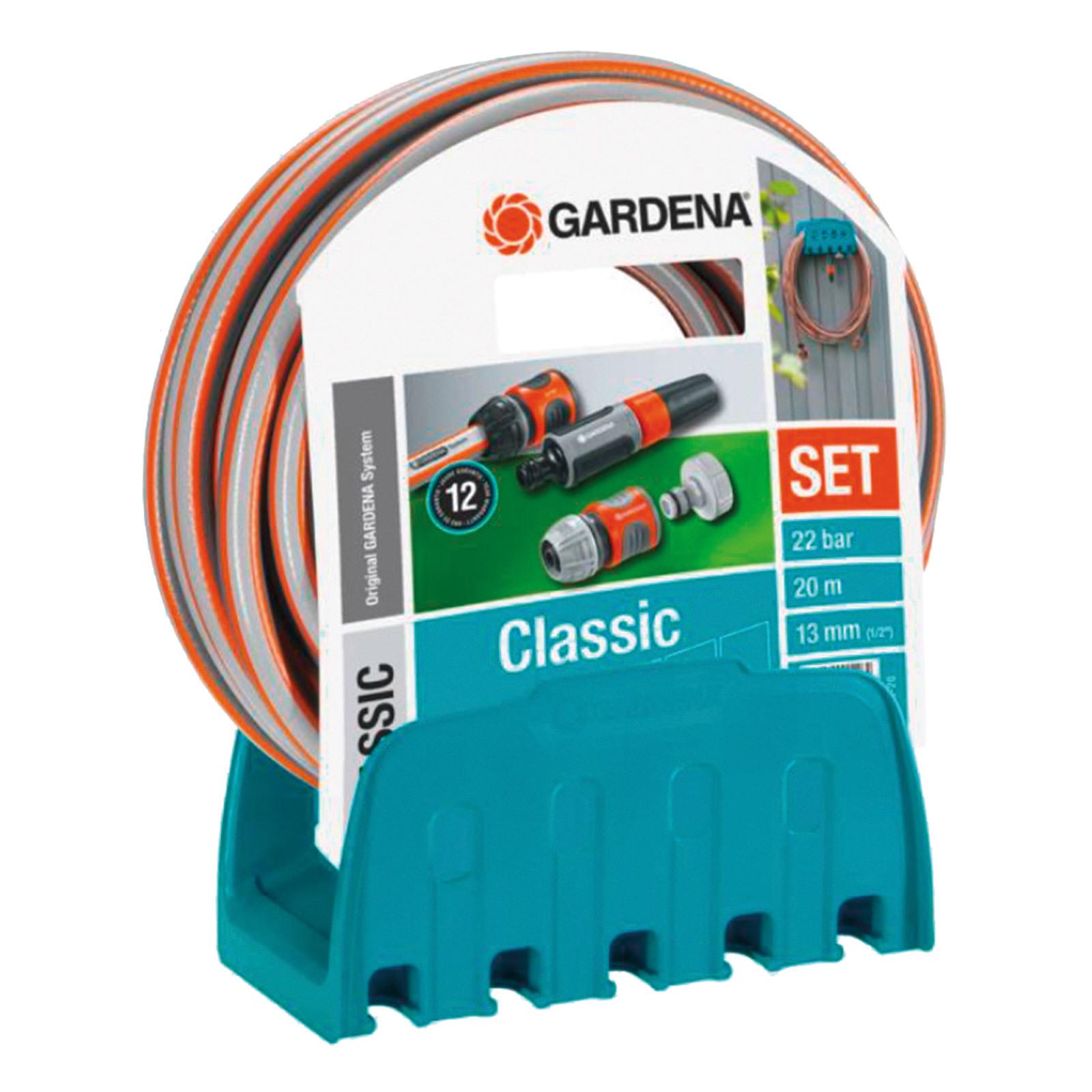 gardena wandschlauchhalter schlauchhalter mit schlauch 20m zubeh r 18005 50 ebay. Black Bedroom Furniture Sets. Home Design Ideas