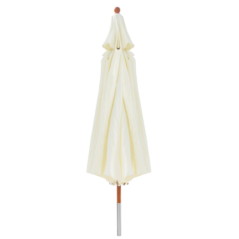 anndora sonnenschirm 4 m rund natural edler holzsonnenschirm gartenschirm robust ebay. Black Bedroom Furniture Sets. Home Design Ideas
