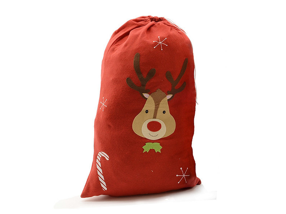 nikolaussack weihnachtssack rentier rot geschenkesack. Black Bedroom Furniture Sets. Home Design Ideas