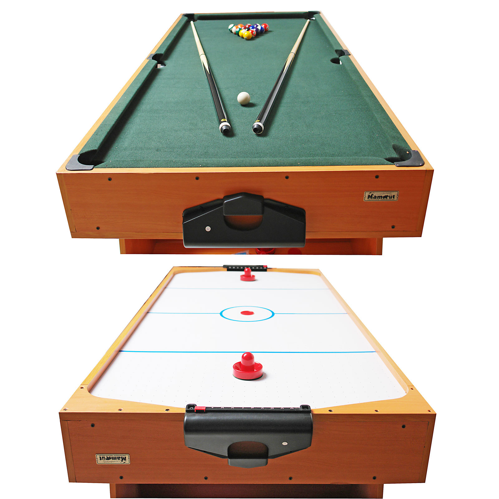 billardtisch billard airhockey tisch 2 in 1 kombi tisch spieltisch spiele ebay. Black Bedroom Furniture Sets. Home Design Ideas