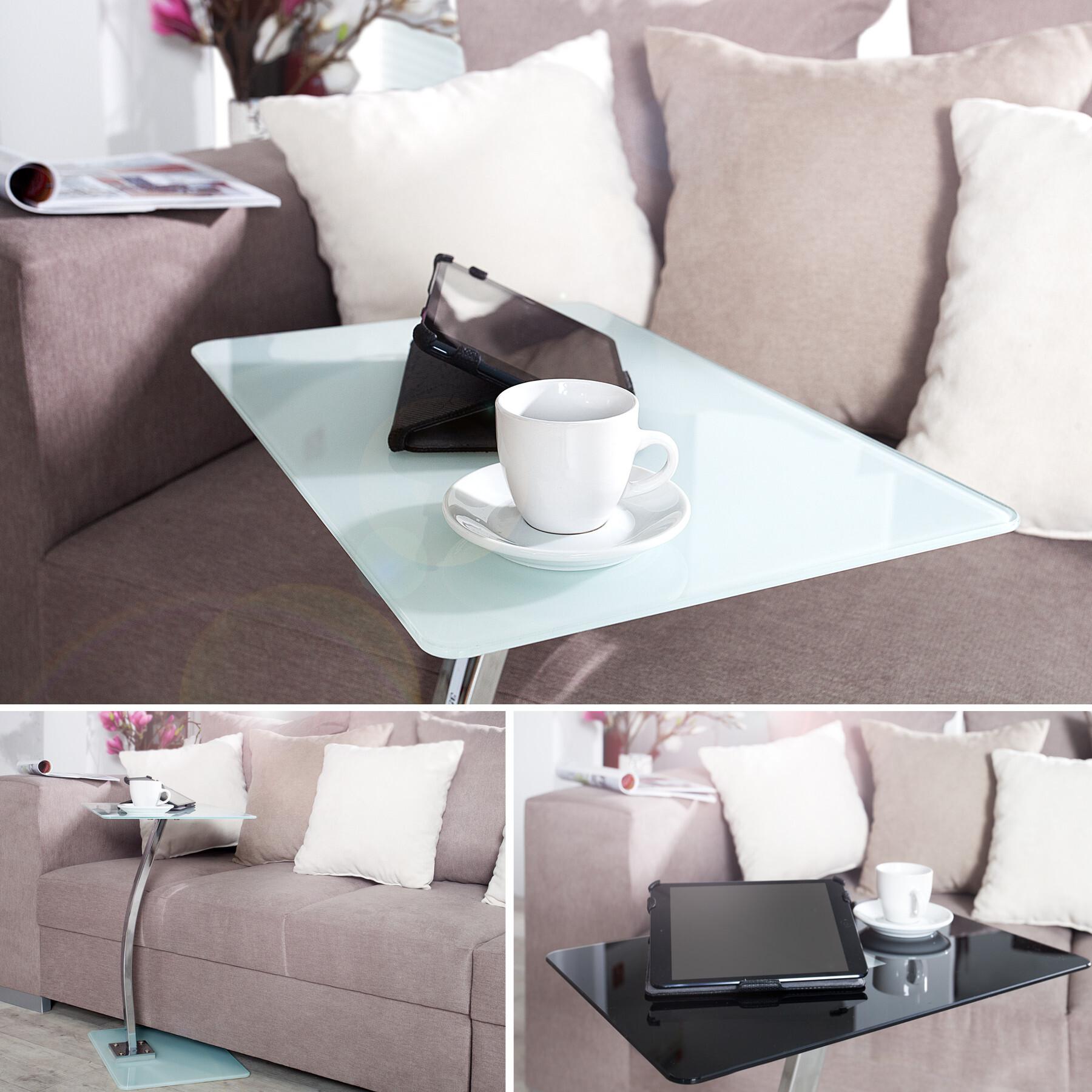 laptoptisch butler tisch beistelltisch couchtisch tische glastisch 58 cm ebay. Black Bedroom Furniture Sets. Home Design Ideas