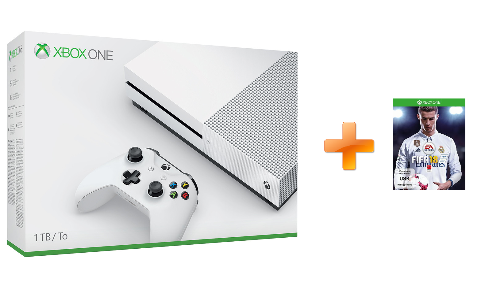 xbox one s 1tb fifa 18 neuwertig ebay. Black Bedroom Furniture Sets. Home Design Ideas