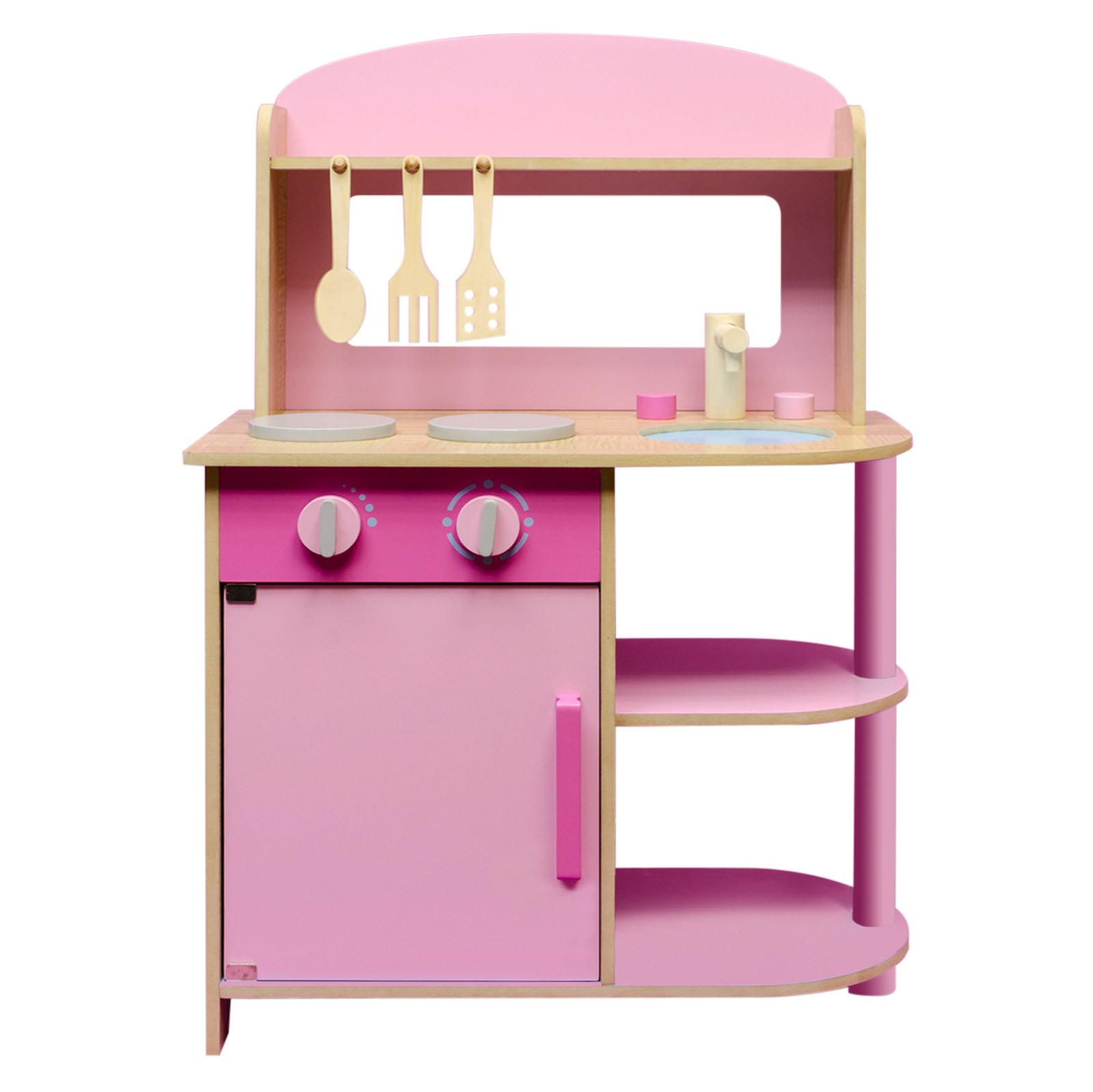 spielk che spielzeugk che kinderk che holzk che kinder k che aus holz rosa pink ebay. Black Bedroom Furniture Sets. Home Design Ideas