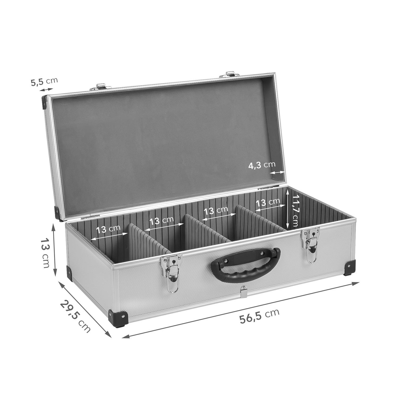 Klein- & Hängeaufbewahrung Neopren Lange Lebensdauer Dj Cd-koffer Alukoffer Für 60 Cds Mit Schlüssel Dj Case Box Innenraum