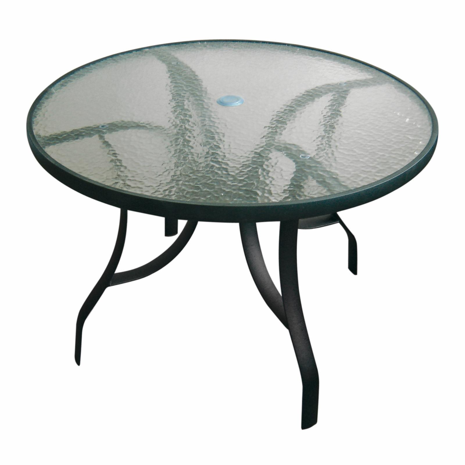 gartenm bel aluminiumtisch gartentisch glastisch tisch glasplatte rund 100cm ebay. Black Bedroom Furniture Sets. Home Design Ideas