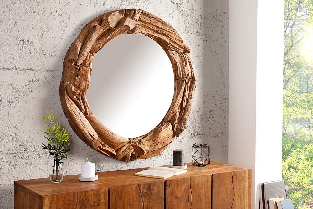 Massiver Treibholz Spiegel TRIBE 50 cm aus recyceltem ...