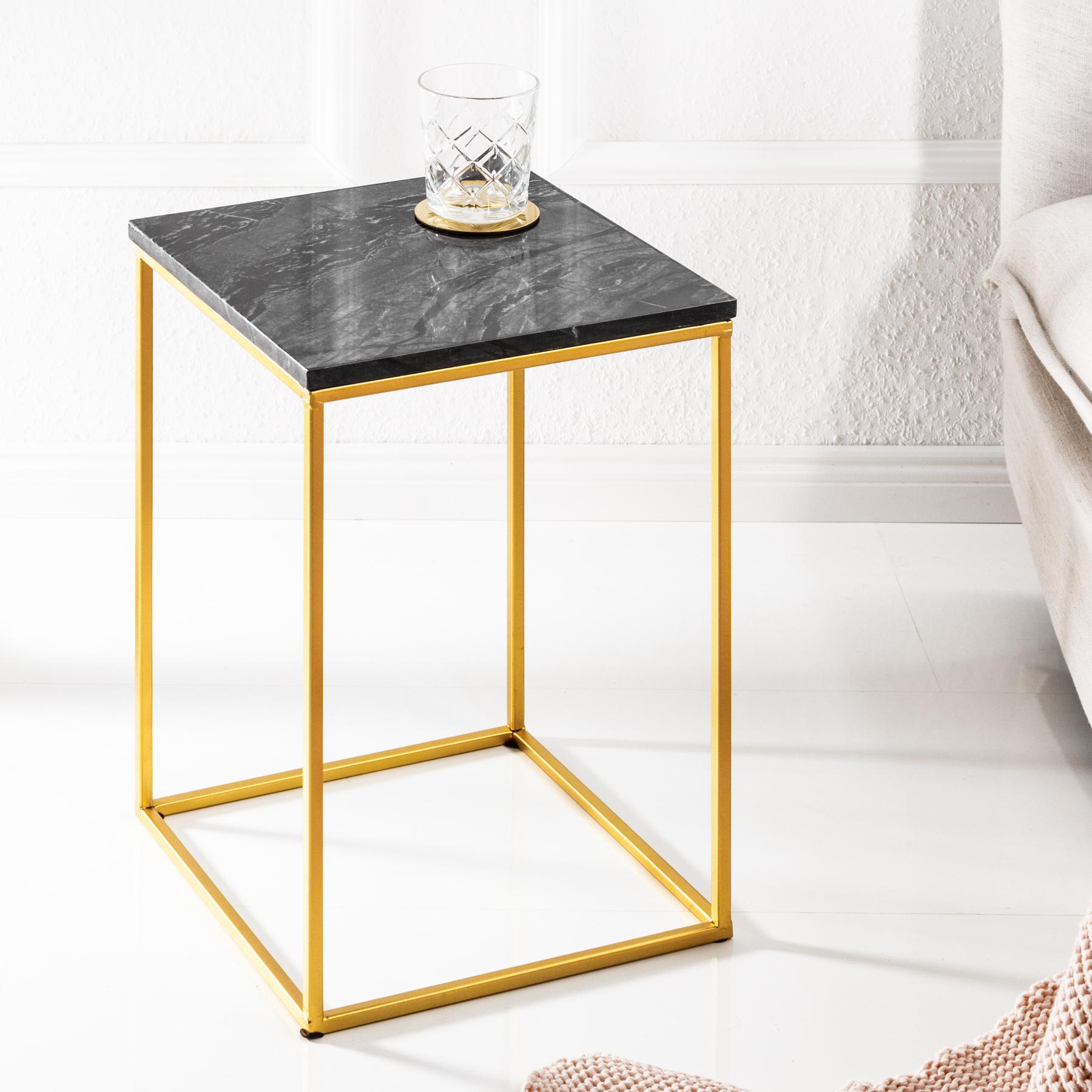 Eleganter beistelltisch noble iv marmor tisch schwarzer for Marmor wohnzimmertisch