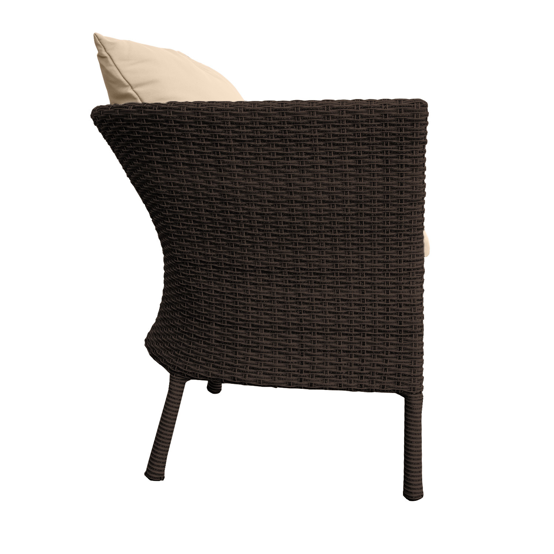 rattan sitzgruppe balkon gartenm bel 2 sessel kissen tisch braun b ware ebay. Black Bedroom Furniture Sets. Home Design Ideas