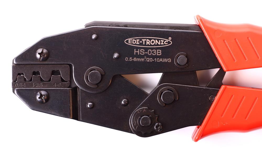 crimpzange f r offene nicht isolierte kabelschuhe hs03b. Black Bedroom Furniture Sets. Home Design Ideas