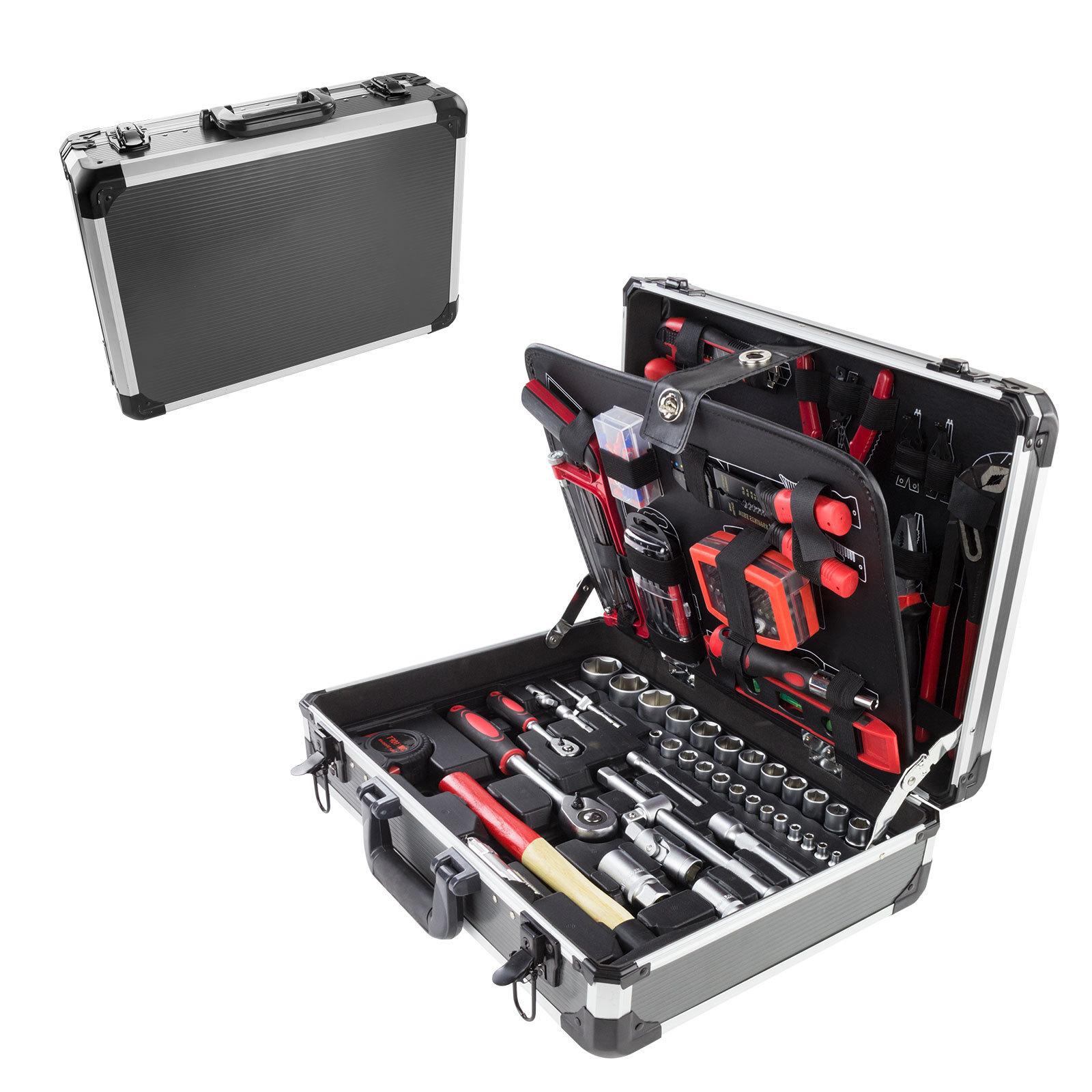 alu werkzeugkoffer werkzeugkiste werkzeugbox koffer mit. Black Bedroom Furniture Sets. Home Design Ideas