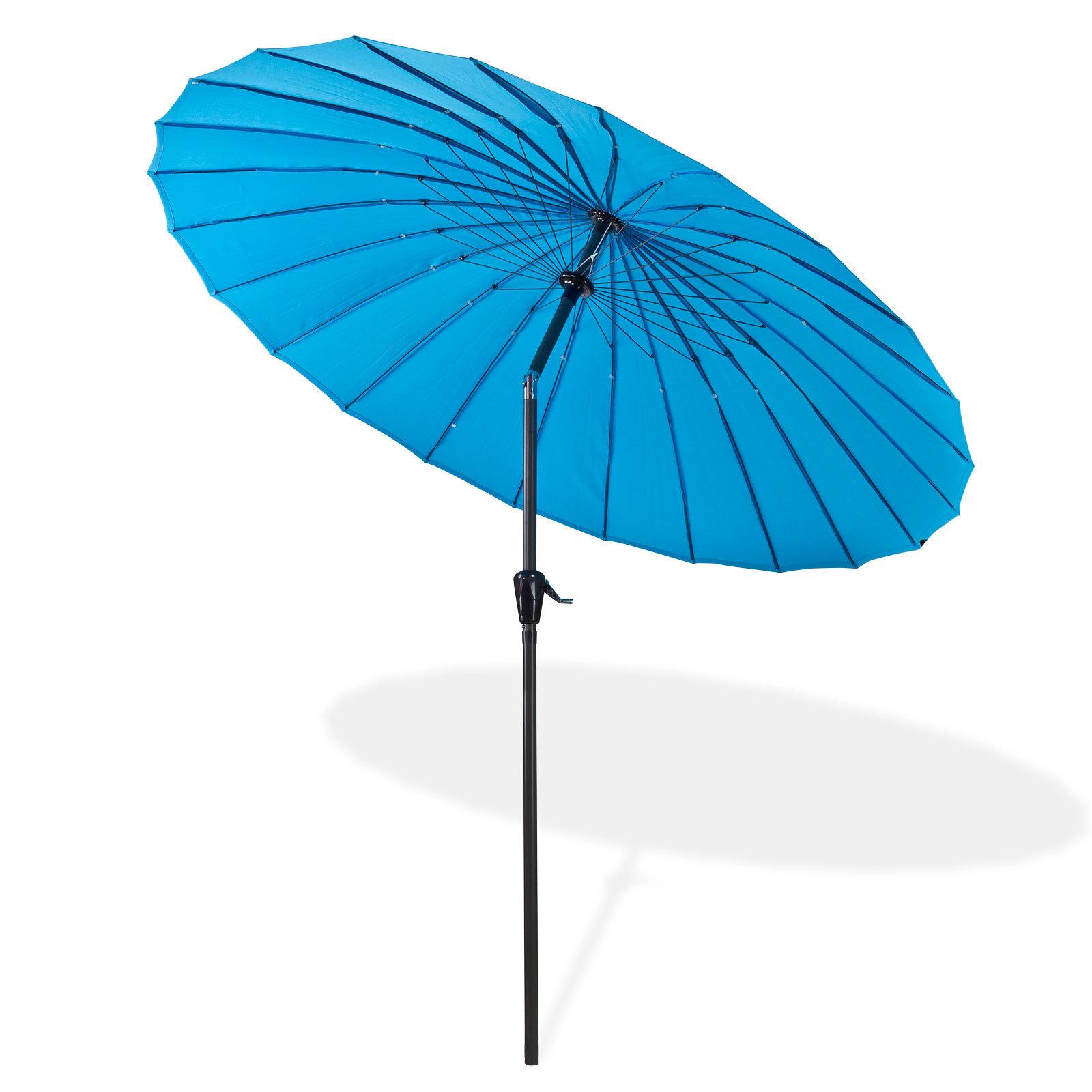 sonnenschirm gartenschirm sonnenschutz schirm rund 2 5m azurblau blau 4031765412797 ebay. Black Bedroom Furniture Sets. Home Design Ideas
