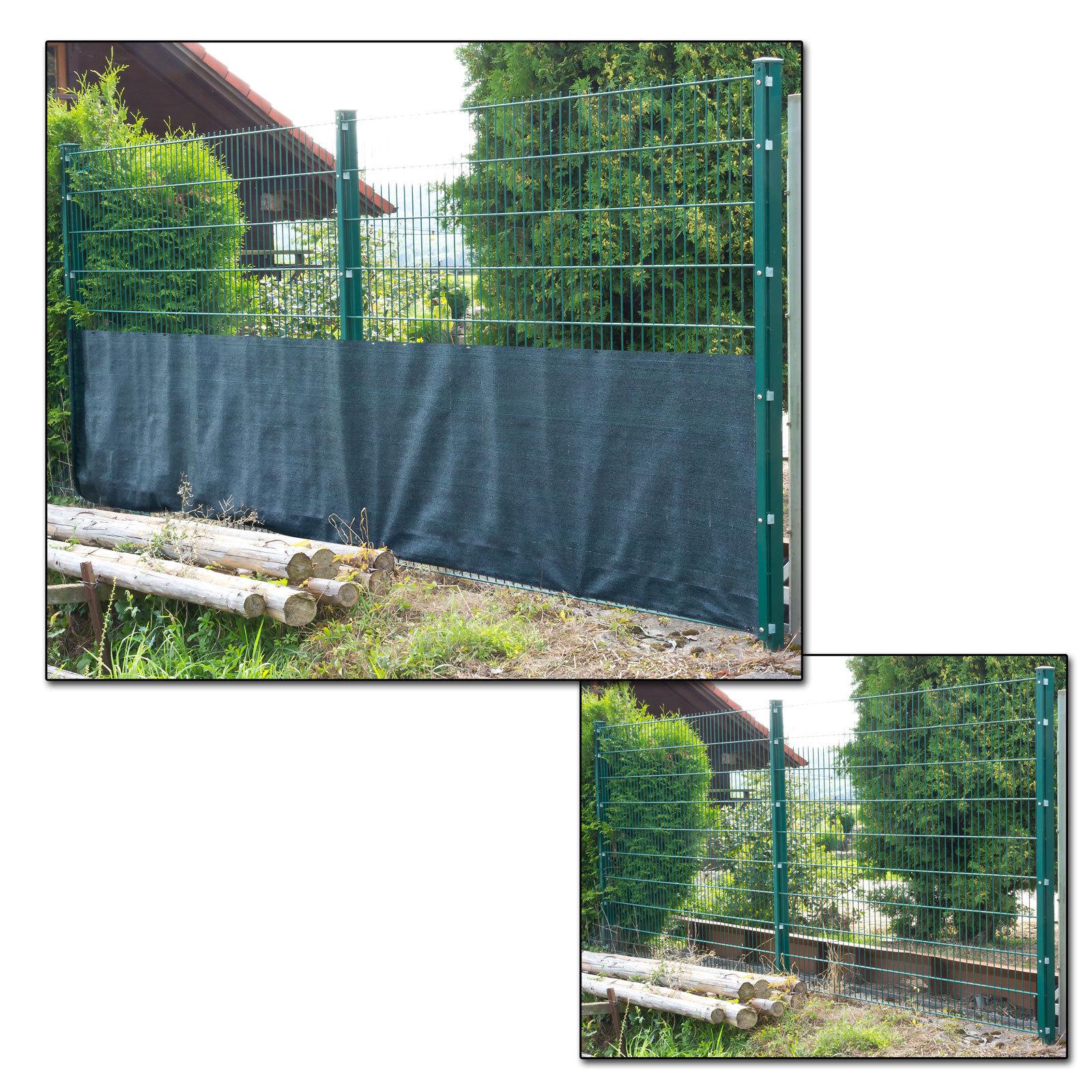 Sichtschutzzaun Gartenzaun Balkonsichtschutz Terrasse Zaun 25 x 1 m dunkelgrün