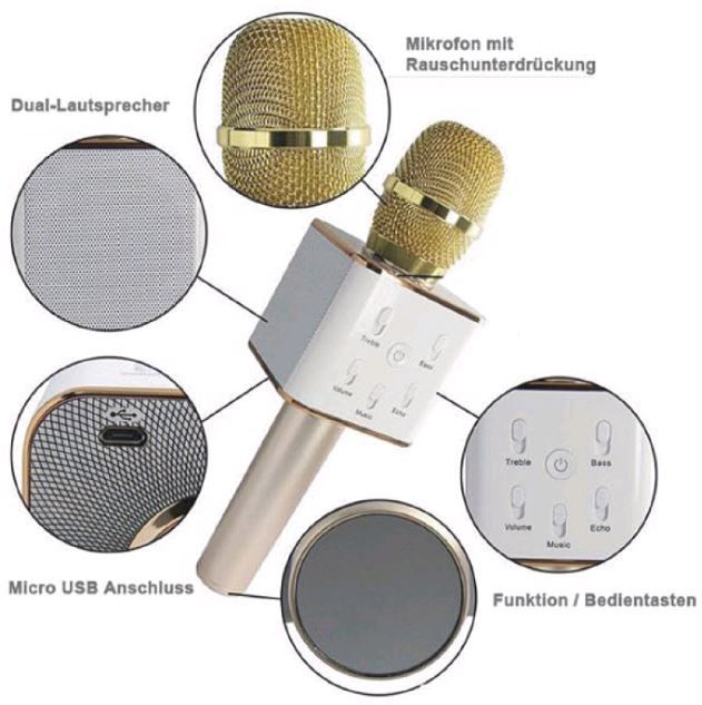 musicman bt x3 karaoke mikrofon mit integr lautsprecher. Black Bedroom Furniture Sets. Home Design Ideas