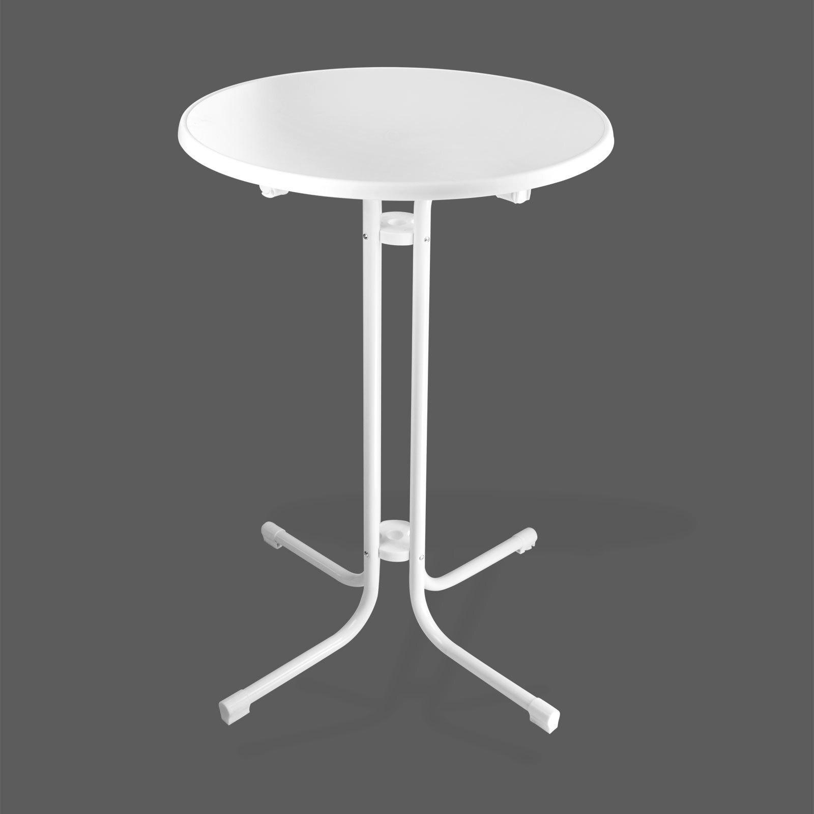 stehtisch bistrotisch klapptisch tisch treviso rund 70 cm klappbar wei ebay. Black Bedroom Furniture Sets. Home Design Ideas