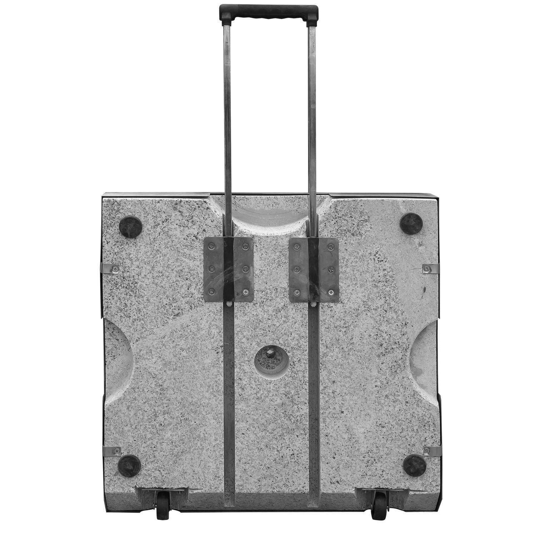 edelstahl schirmst nder schirmfuss granit rollbar schirme stammdicke 25 55 mm ebay. Black Bedroom Furniture Sets. Home Design Ideas