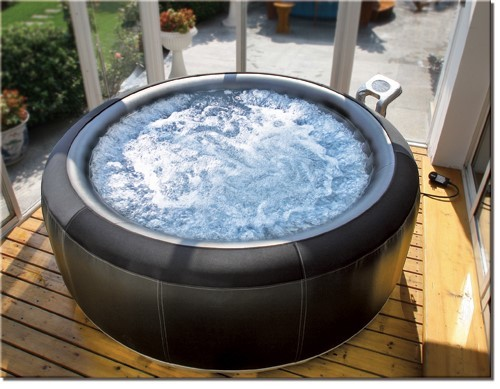 top luxus outdoor jacuzzi aufblasbarer spa whirlpool inflatable massage wellness ebay. Black Bedroom Furniture Sets. Home Design Ideas