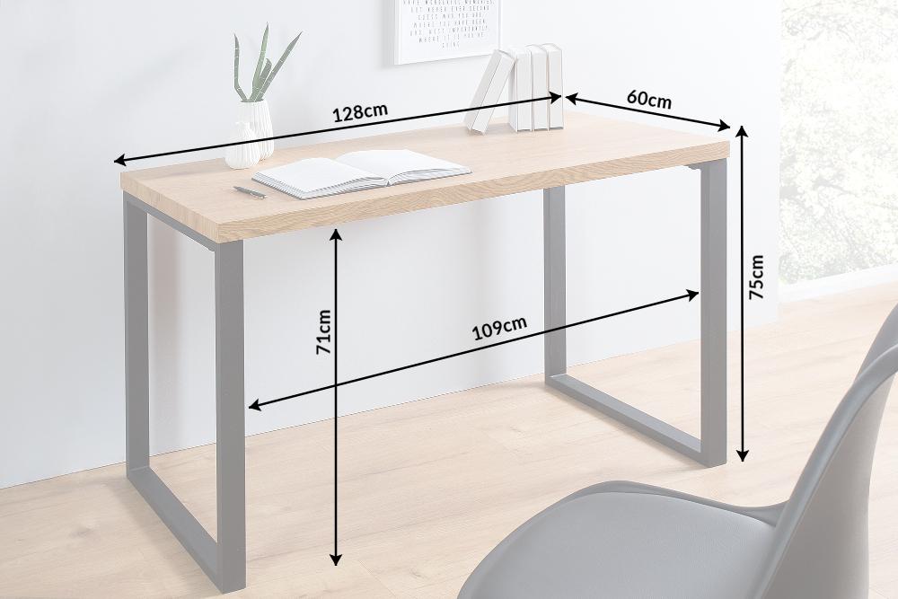 Schreibtisch Oak Desk 120cm Bürotisch Vintage Metall Schwarz Holz